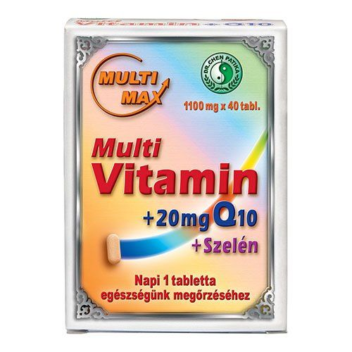 Dr. Chen Multi-Max Multi vitamin+20 mg Q10+Szelén tabletta, 1100 mg (40 db)