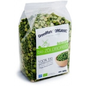 GreenMark Bio zöldborsó felezett (500 g)
