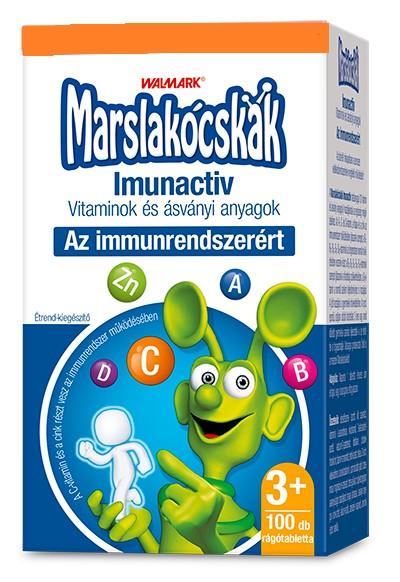 Walmark Marslakócskák Imunactiv multivitamin - narancsos ízben (30 db)