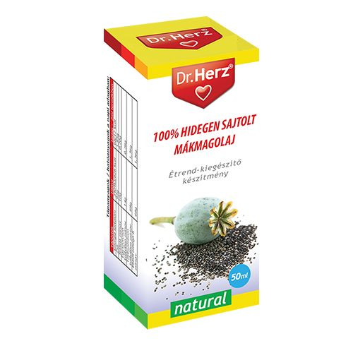 Dr. Herz 100% Hidegen sajtolt mákolaj (50 ml)