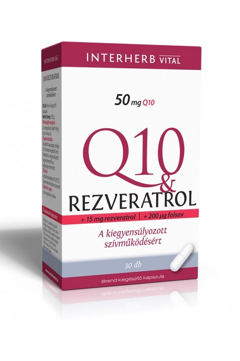 Interherb Q10 Rezveratrol kapszula ( 30 db)