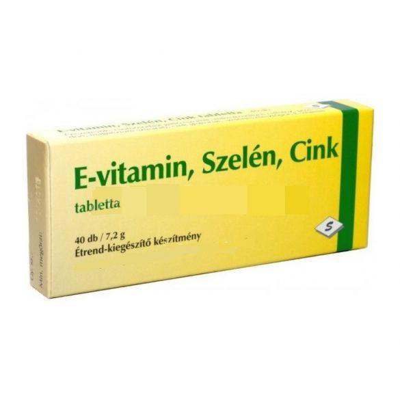 E-vitamin+szelén+cink tabletta (40 db)