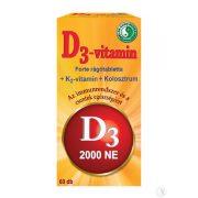 Dr. Chen D3-vitamin Forte rágótabletta 1200 mg (60 db)
