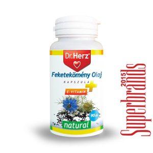 Dr. Herz Feketekömény olaj 500mg + E-vitamin kapszula (90 db)