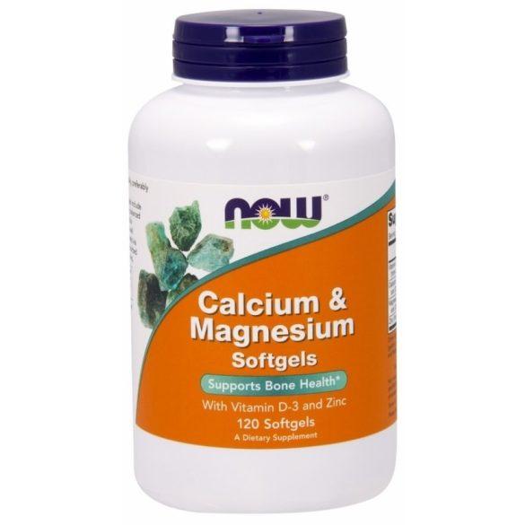 Now Kalcium & Magnézium +D3 és Cink kapszula (120 db)