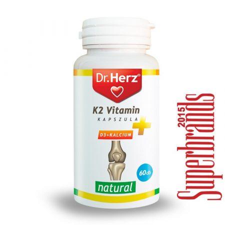 Dr. Herz K2 + D3 + Kalcium Vitamin kapszula (60 db)