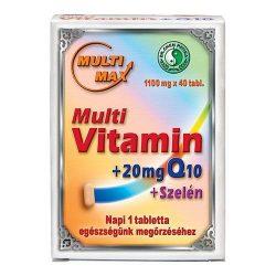 Dr. Chen Multi-Max Multi vitamin+20 mg Q10+Szelén tabletta (40 db)