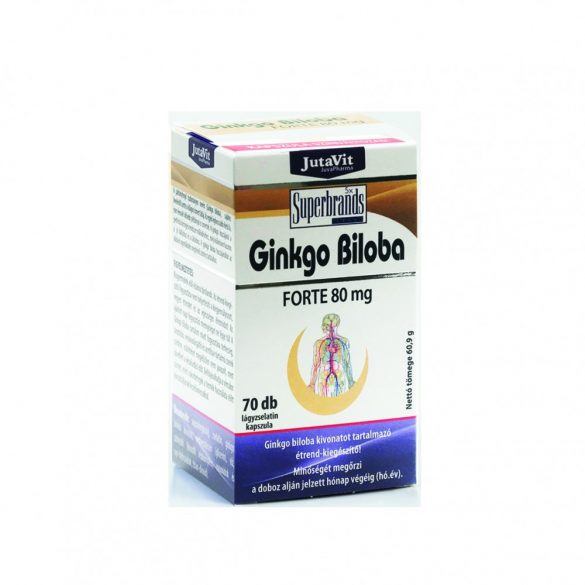 JutaVit Ginko Biloba Forte 80 mg (60+10 db)