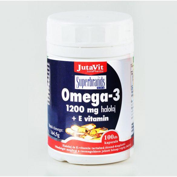 JutaVit Omega-3 halolaj 1200 mg E-vitaminnal (100 db)