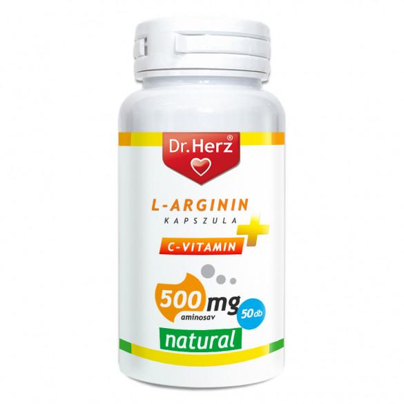 Dr. Herz L-Arginin + C-vitamin 500mg kapszula (50 db)