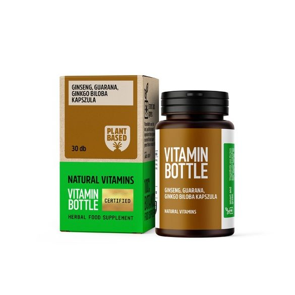 Vitamin Bottle Ginseng, Guarana, Ginkgo Biloba kapszula (30 db)