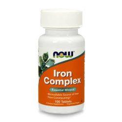 Now Iron Complex Tabletta (100 db)