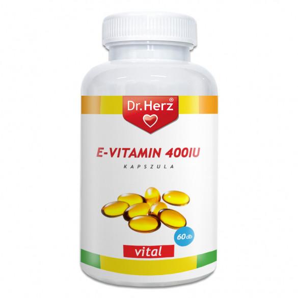 Dr. Herz E-vitamin 400IU lágyzselatin kapszula (60 db)