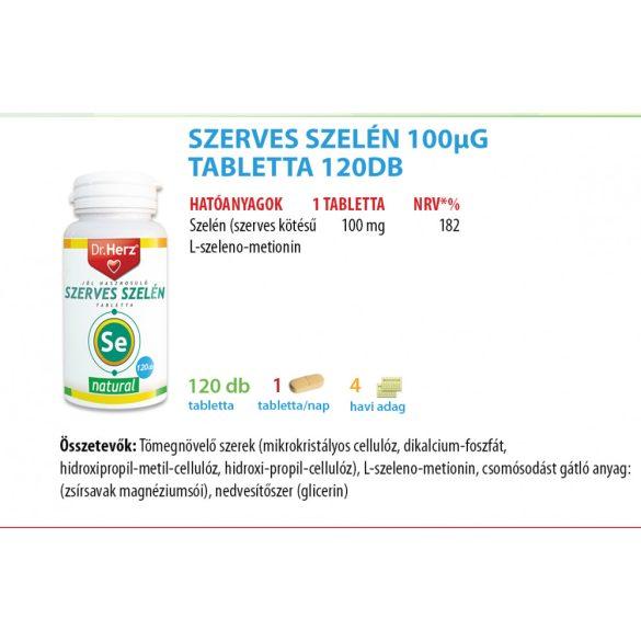 Dr. Herz Szerves Szelén 100 µg tabletta (120 db)