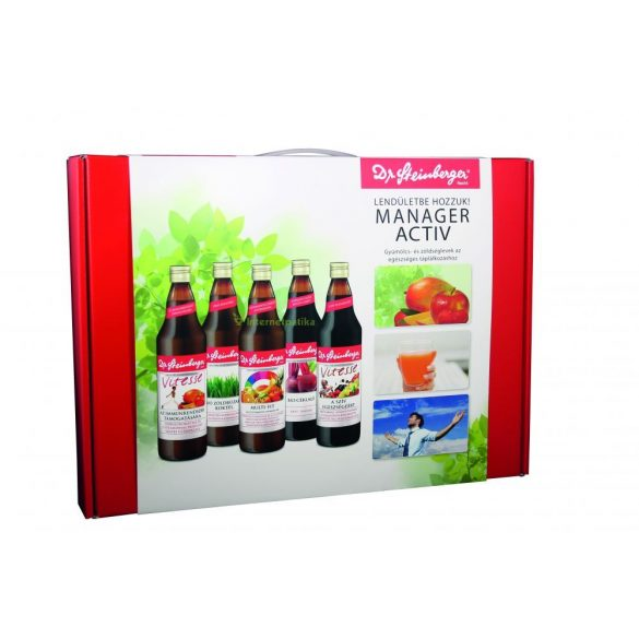 Dr. Steinberger Manager Activ gyümölcs és zöldséglevek (5x750 ml)