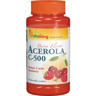 vitaking Acerola C-500 rágótabletta (40 db)