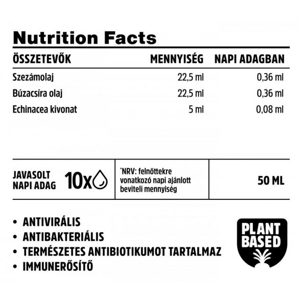 Vitamin Bottle Echinacea-Bíborkasvirág csepp (30 ml)