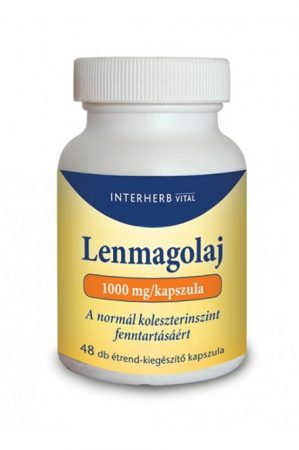 Interherb Vital Lenmagolaj kapszula E vitaminnal (48 db)