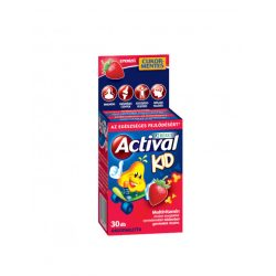 Béres Actival Kid rágótabletta eper ízű (30 db)