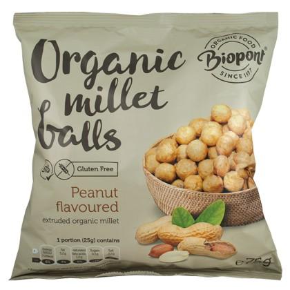 Biopont Bio Extrudált kölesgolyó földimogyorós ízű (75 g)