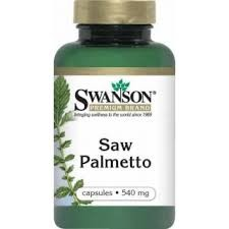 Swanson Saw Palmetto / Fűrészpálma kivonat 540mg kapszula (100 db)