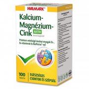 Walmark Calcium+Magnézium+Cink aktív tabletta (100 db)