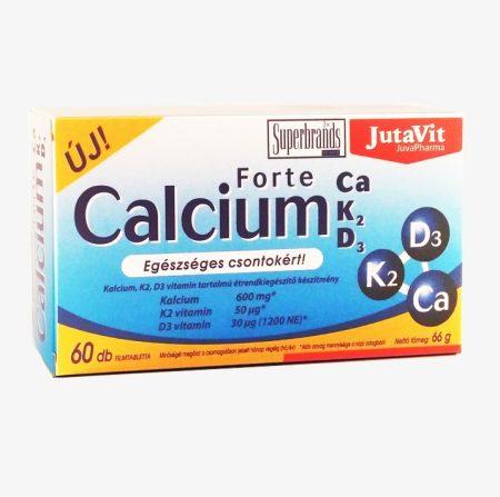 JutaVit Calcium Forte Ca+K2+D3 tabletta (60 db)