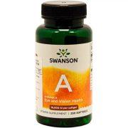 Swanson A-vitamin gélkapszula (250 db)