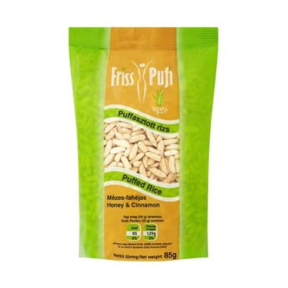 Friss pufi Puffasztott rizs mézes-fahéjas (85 g)