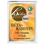 Dr. Chen Béta-karotin + E-vitamin + Cink lágyzselatin kapszula (60 db)