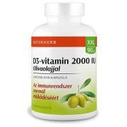 Interherb XXL D3-vitamin 50 µg (2000 IU) olivaolajjal kapszula (90 db)
