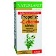 Naturland Propolisz tabletta + C-vitamin (60 db)