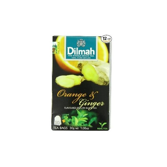 Dilmah Fekete tea, Orange & Ginger aromás, filteres (20 db)