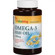 vitaking Omega 3 Halolaj 1200 mg gélkapszula (90 db)