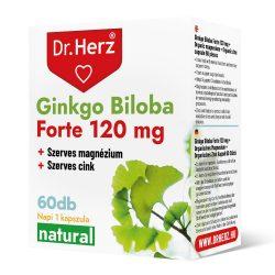 Dr. Herz Ginkgo Biloba Forte120 mg extraktum + magnézium kapszula (60 db)