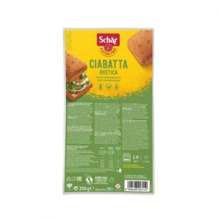 Schär gluténmentes Ciabatta többmagvas zsemlék (200 g)