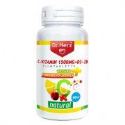 Dr. Herz C-vitamin 1000mg + Csipkebogyó+D3 tabletta (60 db)