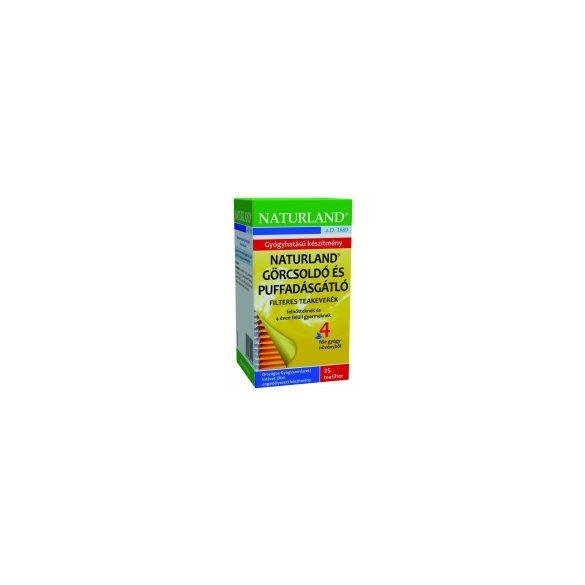 Naturland Görcsoldó és puffadásgátló tea filteres (25 x 1,5 g)