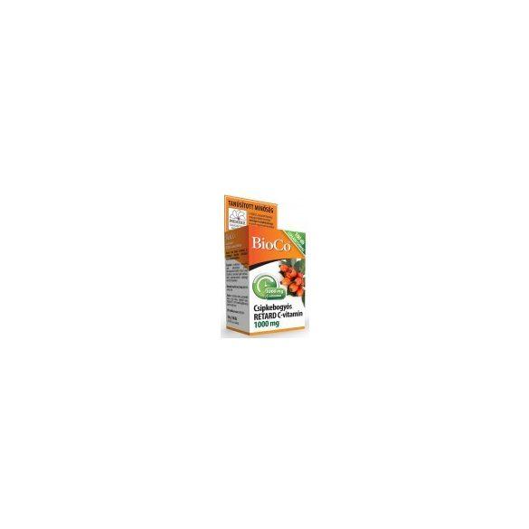 BioCo Csipkebogyós Retard C-vitamin 1000 mg tabletta, családi csomag (100 db)