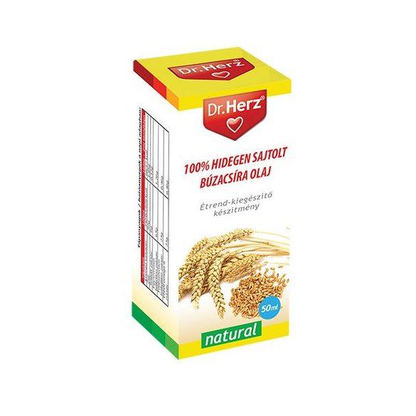 Dr. Herz 100% Hidegen sajtolt búzacsíra olaj (50 ml)