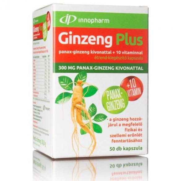 Innopharm Ginzeng Plus Panax Ginzeng kivonattal + 10 vitaminnal kapszula (50 db)