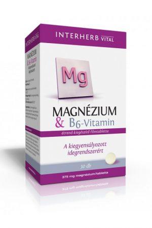 Interherb Vital Magnézium & B6 vitamin tabletta (30 db)