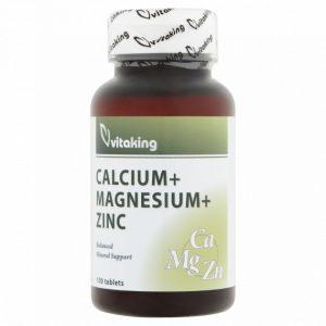 vitaking Kalcium-magnézium-cink tabletta (100 db)