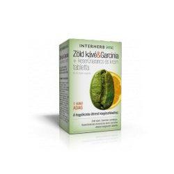 Interherb Vital Zöld kávé & Garcinia + keserűnarancs és króm tabletta (60 db)