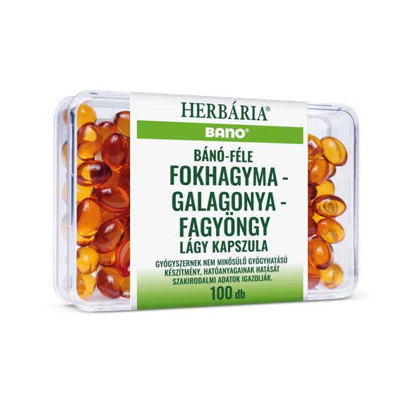 Bano Fokhagyma-galagonya-fagyöngy kapszula (100 db)