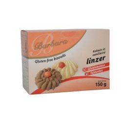 Barbara gluténmentes kakaós-vaníliás ízű linzer (150 g)