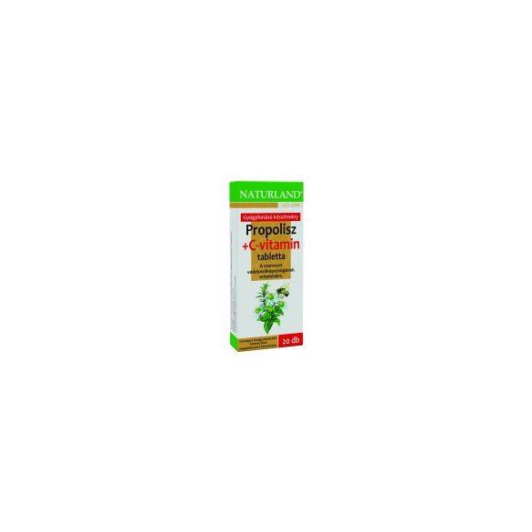 Naturland Propolisz tabletta + C-vitamin (20 db)