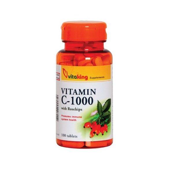 vitaking C-1000 tabletta, csipkebogyóval (100 db)