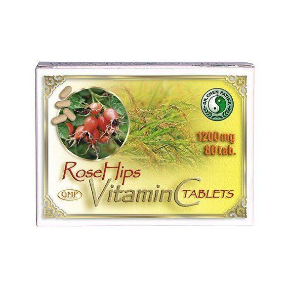 Dr. Chen C-vitamin tabletta csipkebogyó kivonattal, 1200 mg (80 db)