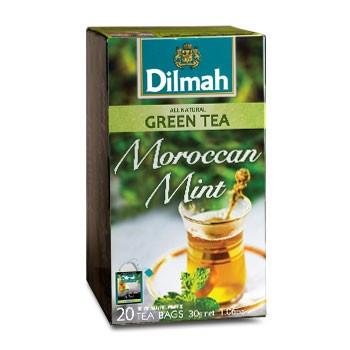 Dilmah Zöld tea, Mentás aromás, filteres / Moroccan Mint Green tea (20 db x 1,5 g)